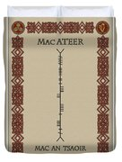 Macateer Written In Ogham Duvet Cover