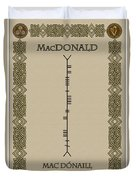 Macdonald Written In Ogham Duvet Cover