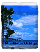 Mackinac Bridge Duvet Cover