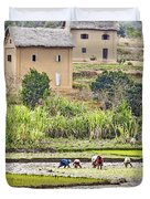 Madagascan Paddyfield Duvet Cover