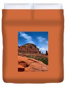 Madonna And Child Two Nuns Rock Formations Sedona Arizona Duvet Cover