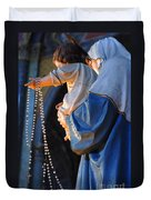 Madonna And Jesus Duvet Cover