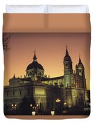 Madrid Cathedral Sunset Duvet Cover