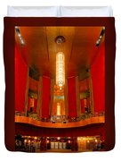 Main Lobby Radio City Music Hall Duvet Cover