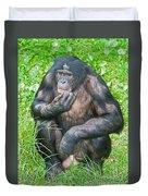 Male Bonobo Duvet Cover