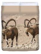Male Nubian Ibex Duvet Cover