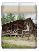 Mamma Cabin At The Holzwarth Historic Site Duvet Cover