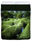 Man Lost Inside A Maze Or Labyrinth Duvet Cover