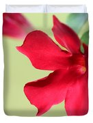 Mandevilla Named Sun Parasol Crimson Duvet Cover