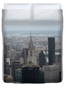 Manhattan From The Empire State Building Duvet Cover