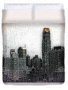 Manhattan View Duvet Cover
