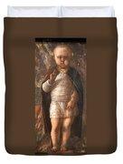 Mantegna's The Infant Savior Duvet Cover