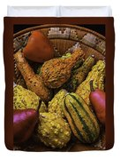 Many Colorful Gourds Duvet Cover