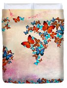 Map Of The World Duvet Cover