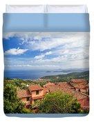Marciana Village - Elba Island Duvet Cover