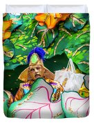 Mardi Gras Float Duvet Cover