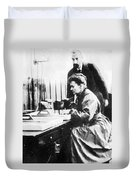 Marie And Pierre Curie Duvet Cover