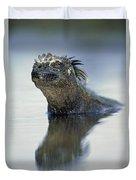 Marine Iguana Galapagos Islands Duvet Cover