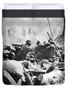 Marines Fight At Tarawa Duvet Cover