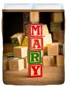Mary - Alphabet Blocks Duvet Cover