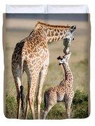 Masai Giraffe Giraffa Camelopardalis Duvet Cover