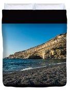 Matala Beach Duvet Cover