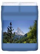 Matterhorn In Zermatt Duvet Cover