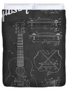 Mccarty Gibson Stringed Instrument Patent Drawing From 1969 - Dark Duvet Cover