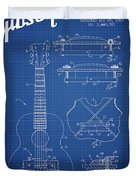 Mccarty Gibson Stringed Instrument Patent Drawing From 1969 - Bl Duvet Cover