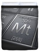 Meitnerium Chemical Element Duvet Cover