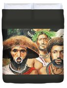 Men From New Guinea Duvet Cover