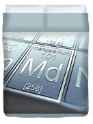 Mendelevium Chemical Element Duvet Cover