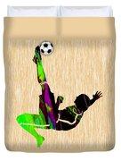Womans Soccer Duvet Cover
