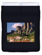 Meteora Greece Duvet Cover
