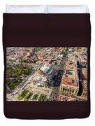 Mexico City Aerial View Duvet Cover