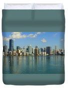 Miami Brickell Skyline Duvet Cover