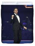 Singer Michael Buble Duvet Cover