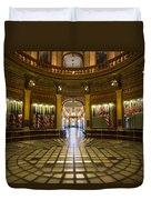 Michigan Capitol Flag Room Duvet Cover