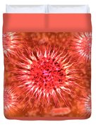 Microscopic View Of Dendrimers Duvet Cover
