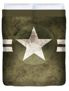 Military Army Star Background Duvet Cover