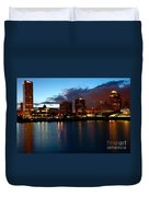 Milwaukee Skyline At Dusk Duvet Cover