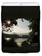 Missouri River Sunrise  Duvet Cover