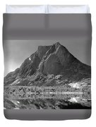 109644-bw-mitchell Peak, Wind Rivers Duvet Cover