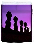 Moais Easter Island Chile Duvet Cover