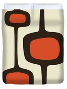 Mod Pod Two Orange With Brown Duvet Cover