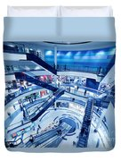 Modern Shopping Mall Interior Duvet Cover