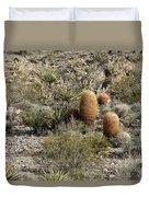 Mojave Desert Cactus Duvet Cover