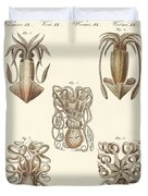 Molluscs Or Soft Worms Duvet Cover