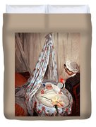 Monet's The Cradle -- Camille With Artist's Son Jean Duvet Cover