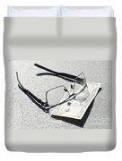 Money And Eyeglasses Duvet Cover